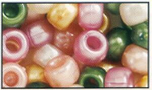 100 Mixed Warm Pearl Pony Beads, IDEAL FOR DUMMY CLIPS, BRACELETS , HAIR BRADING