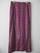 Serious 90's Rockstar Pink Faux Snakeskin Skirt L Hot Topic Gothic Artsy Shimmer