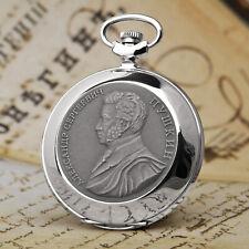 Pocket Watch Molnija 3602 Russian Dichter Alexander Puschkin Analog Watch