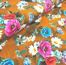 Estiramiento Jersey Tejido de punto-Mille Fleur Menta Verde 95/% algodón 5/% Lycra Medio M