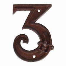 Hausnummer Zahl 3 drei Antik-stil Gusseisen H12cm