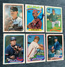 Lot Of (6) 1989 Topps Signed Autographed Cards Ozzie Smith Tony LaRussa HOF