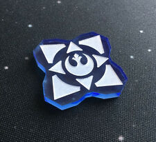 Imperial Assault compatible, acrylic 'entry point' token x 1 (blue)