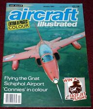 Aircraft Illustrated 1987 January Schipol,Gnat,C-121,Agusta
