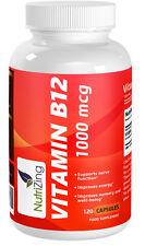 NutriZing Vitamin B12 capsules ~ Methylcobalamin 1000mcg ~ 120 capsules