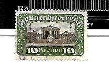 AUSTRIA; # 303c,Green..PERF 12.25 x 12.25.POSTALLY USED..1919-21..NOT LISTED !