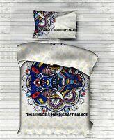 Indian Elephant Mandala Singel Duvet Quilt Cover Bedding Ethnic Boho Blanket Set