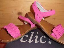 Clic 8511-AL 106 Gr. 24 Sandale fuchsia pink Schleife gerafft Leder ante bogor