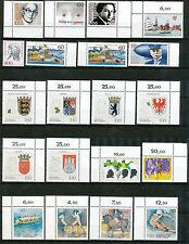Bundespost jaargang 1992 postfris inclusief 1583 x en y; merendeels hoekstukken