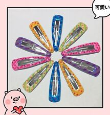 8Pc Multi Colour Hair Clips School Dance Snap Clip Barrette 5cm Fringe Holder AU