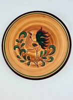 "Pennsbury Pottery Red Amish Rooster 8"" Salad Plate Vintage Folk Art"