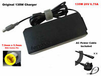Genuine Lenovo ThinkPad 135W 20V AC Adapter Charger w/ Powercord T420 T420i