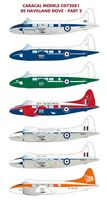 Caracal Models 1/72 decal CD72081 DeHavilland DH.104 Dove/Devon Pt 2 for AModel