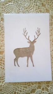 a4 picture mount or stencil deer stag