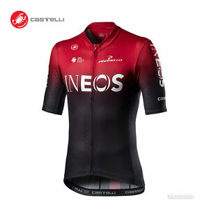 NEW 2020 Castelli COMPETIZIONE Team INEOS Cycling Jersey, Dark Red, X-Large