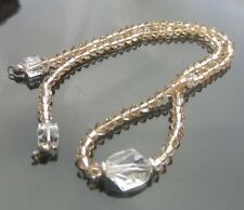 Golden Shadow Bicone Necklace with 925 Silver Clasp made with SWAROVSKI ELEMENTS