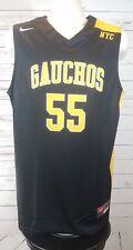 Nike Gauchos NYC New York Authentic Basketball Jersey Black Unisex Large Rare
