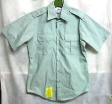 *XSALE US ARMY 2008 COTTON POLY AG-415 GREEN SS DRESS UNIFORM SHIRT - MED (15.5)
