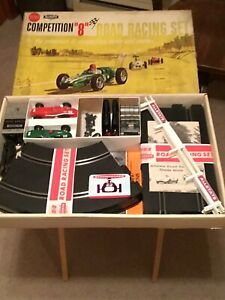 Strombecker, Indy allstate competition 8 1/32 vintage slot car set
