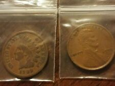 Semi Key 1909 Indian Head and 1909 VDB Lincoln Wheat Cent, 2 Great Coins