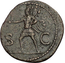 DOMITIAN son of Vespasian 85AD Big Ancient Roman Coin Mars War God Cult  i52110
