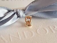 Authentic Pandora 14ct Gold 14k Open Heart Spacer 750454