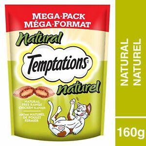 12 Whiskas Temptations Cat Treats Free Range Chicken All Natural -Mega Pack 160g