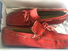 New Sparco Driven Suede  Moccasin Shoes  43 Red