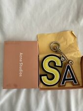 Acne Studios Yellow and Blue AS Letters Keychain