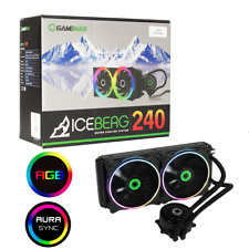 Game Max Iceberg 240mm ARGB AIO Water Cooling System 3pin AURA Sync Intel + AMD