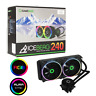 Game Max Iceberg 240mm ARGB AIO Water Cooling System 3pin AURA Sync Intel + AMD