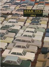 Opel 1963 Annual Report original Corporate Brochure in English Cars Vans Truck