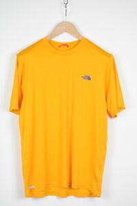 THE NORTH FACE VAPORWICK Men's MEDIUM Yellow Short Sleeve T-Shirt 36829-GS