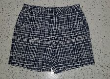 Lady Hagen Women's Above Knee Shorts ~ Sz 8 ~ Blue & White ~ Polyester Blend