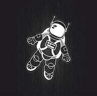 Decal sticker vinyl decor room man astronaut galaxy wall bedroom moon space r3