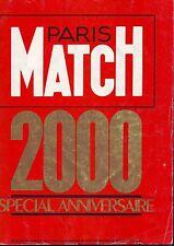 Paris Match  2000 / septembre 1987 / bon etat : numero Anniversaire