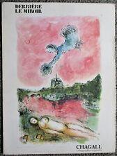 """Litho Chagall  """" Derrière le Miroir """"    1981"""