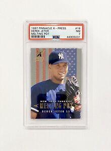 1997 Pinnacle X-Press Melting Pot Derek Jeter /500 #19 New York Yankees PSA 7
