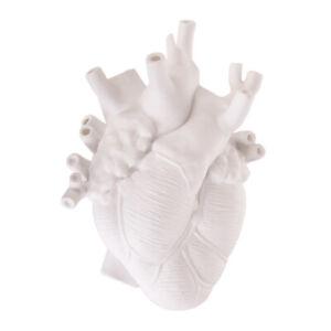 SELETTI + MARCANTONIO Designer Love in Bloom White Porcelain Hanging Heart Vase