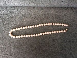 Fine cultured Pearl Necklace 14K Gold
