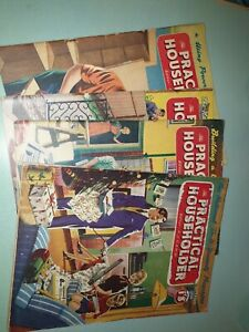 """THE PRACTICAL HOUSEHOLDER"" MAGAZINE BUNDLE X4 Vintage 1956"