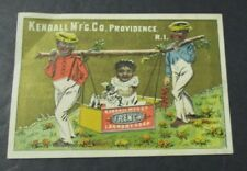 KENDALL FRENCH LAUNDRY SOAP Black Americana Victorian Trade Card