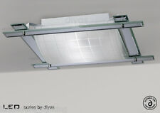 Diyas IL-IL31010 Leo 3 Light Flush Polished Chrome/Clear Mirror/Frosted Glass