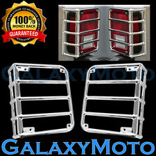 07-16 Jeep JK Wrangler Chrome Stainless Metal Euro Taillight Lamp Guard Cover