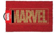 Official Licensed Marvel Comics Logo Paillasson - 100% coco caoutchouc porte arrière tapis