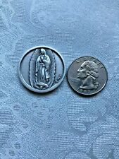 """ OUR LADY OF GUADALUPE & ST.MICHAEL DUO  POCKET TOKEN"" 1-1/8"" Round. NEW"
