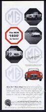 1959 MG MGA 1600 red car & white 4 photo vintage print ad