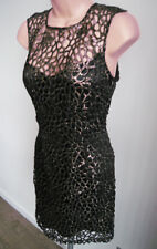 *LIPSY* Black & Gold Backless Cocktail Party Dress - BNWT 8 RRP £70