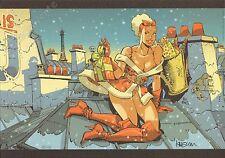 Ex-libris Meynet Mirabelle Sur les toits de Paris Noel 149ex signé 21x29,7