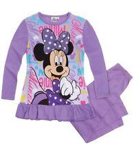 Pyjamas violet à manches longues pour fille de 2 à 16 ans